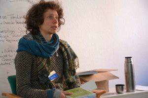 Anja Banzhaf bei ihrer Lesung