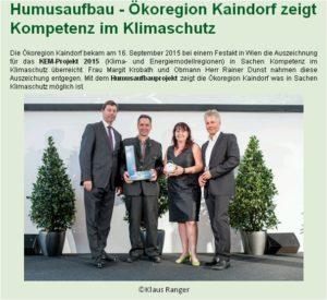 Preisträger der Ökoregion Kaindorf