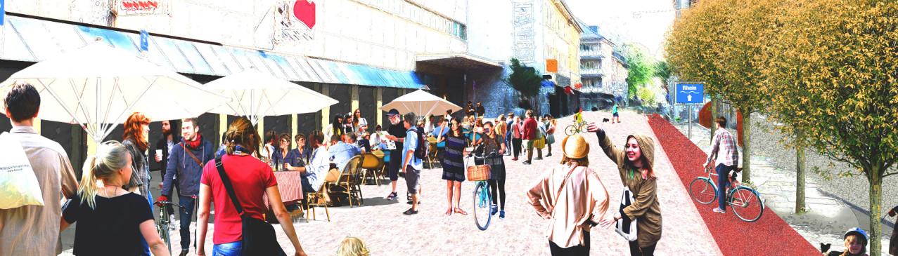 Franziskanergasse als Fußgängerzone Skizze