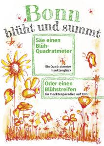 Postkarte von Bonn blüht und summt