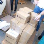 Unsere 32 Kartons Schokolade für Bonn