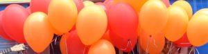 Rote und Orangene Luftballons