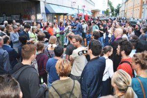 Menschenmenge in der Franziskanerstraße