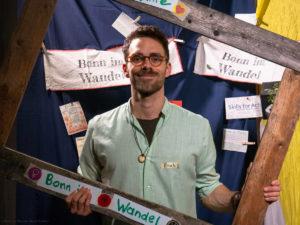 Junger Mann im Bonn im Wandel Bilderrahmen
