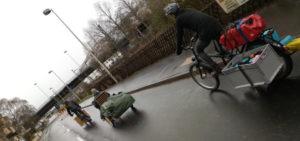 Fahrräder auf der Straße