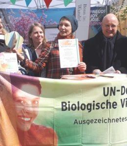UN-Preis für Bonn blüht und summt – Die Laudatio von Prof. Erdmann BfN