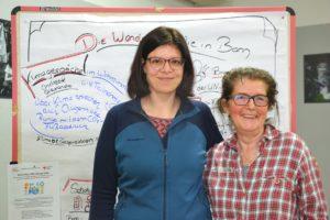 Andrea und Alexandra engagieren sich für Klimagespräche