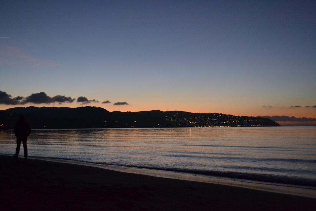 Meer Abendsonne Strand
