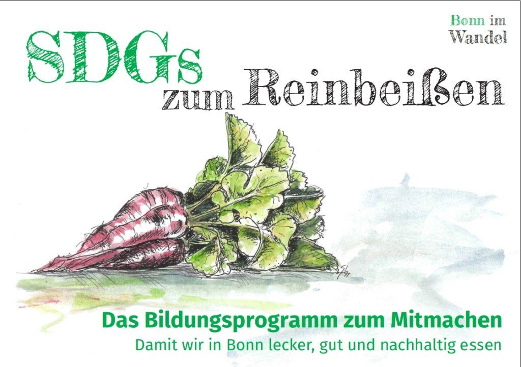 Titelbild Flyer SDGs zum Reinbeißen