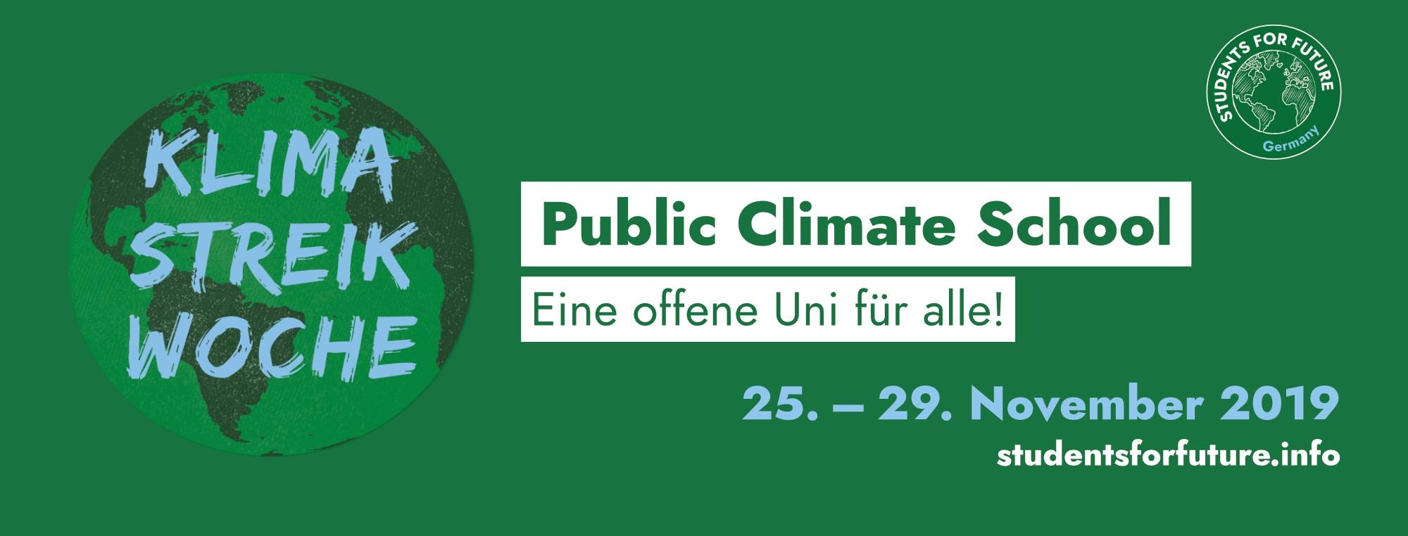 Logo public climate school