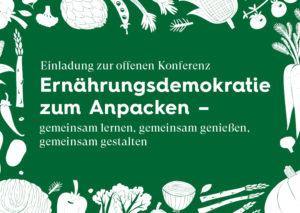 Flyer Konferenz Ernährungsdemokratie