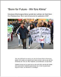 Titelbild Mitwirkungskonzept Bonn4Future