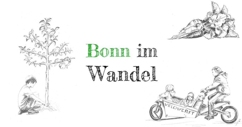Bonn im Wandel Projekte Apflebaum, Radischen+ Lastenrad