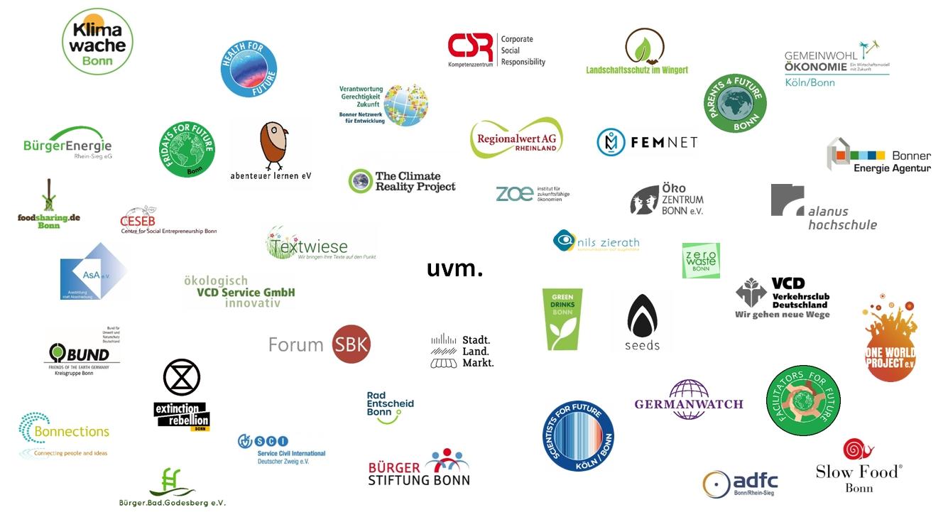Zahlreiche Logos von Unterstützerorganisationen