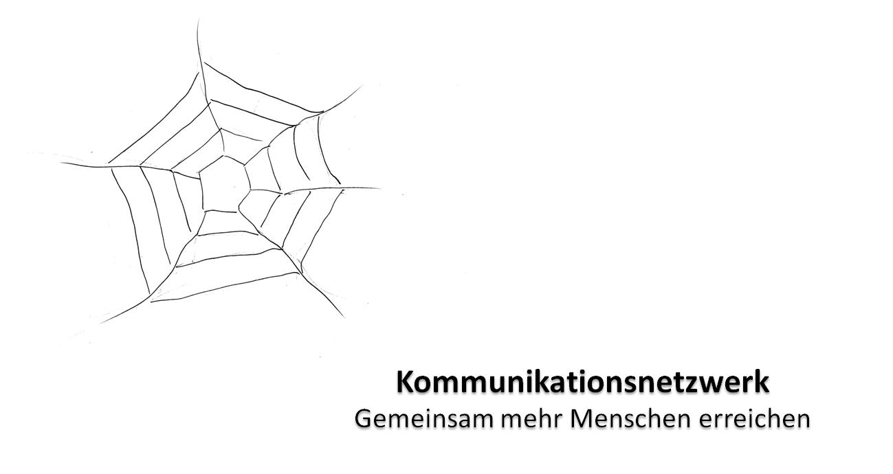 Spinnennetz als Symbol für Kommunikationsnetzwerk