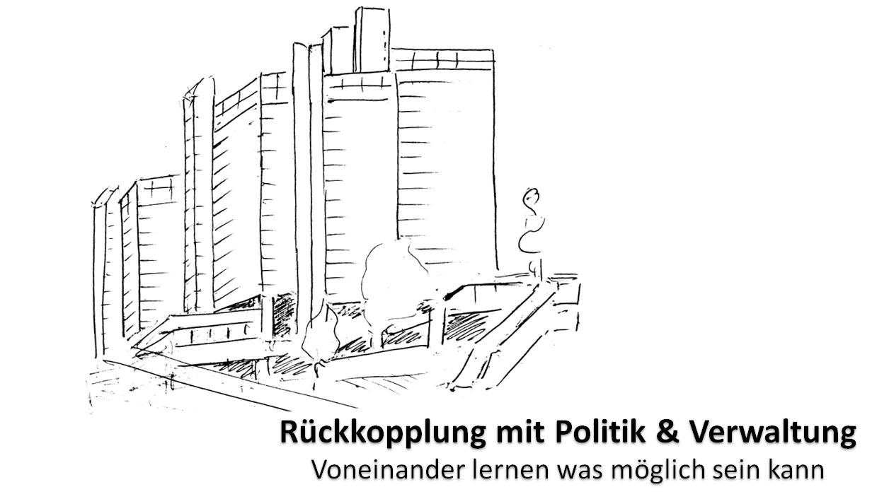 Stadthaus mit Untertitel